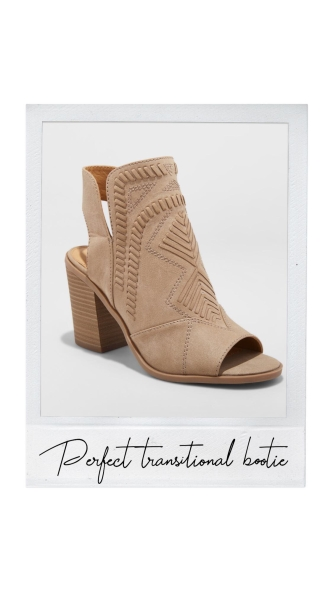 transitional bootie